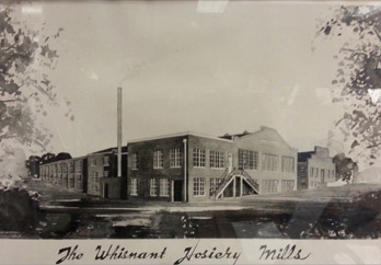 Original artistic rendering of Whisnant Hosiery Mills.