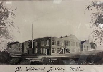Original artistic rendering of Whisnant Hosiery Mills.