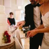 Wedding Cake Cutting 74 South Event Venue at Moretz Mills Hickory, NC