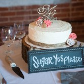 Wedding Venue Cake 74 South Event Venue at Moretz Mills Hickory, NC