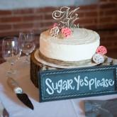 Wedding Venue Cake 74 South Event Venue at Moretz Mills Hickory, NC