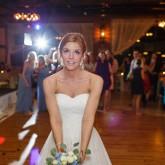 Throwing Flower Bouquet Bradshaw & Burchette Wedding_Revival Photography 74 South Event Venue at Moretz Mills Hickory, NC