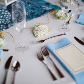 Table setting Bradshaw & Burchette Wedding_Revival Photography 74 South Event Venue at Moretz Mills Hickory, NC