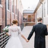 Bride & Groom Bradshaw & Burchette Wedding_Revival Photography 74 South Event Venue at Moretz Mills Hickory, NC