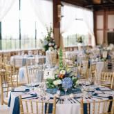 Tables Event room Bradshaw & Burchette Wedding_Revival Photography 74 South Event Venue at Moretz Mills Hickory, NC